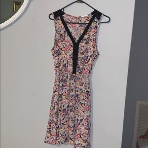 A floral patterned dress